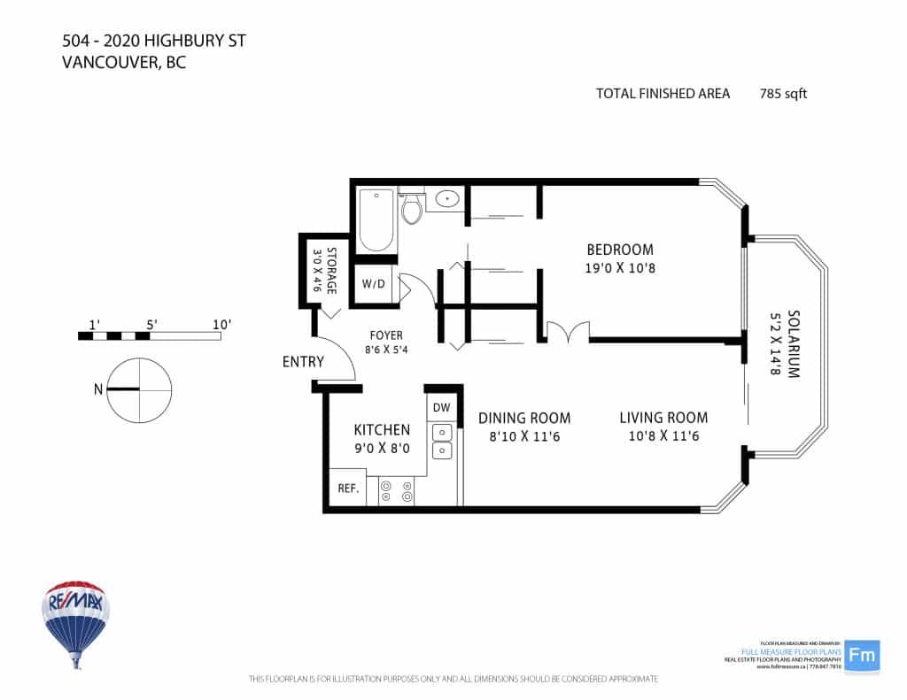 Highbury Towers condo floorplan Kitsilano