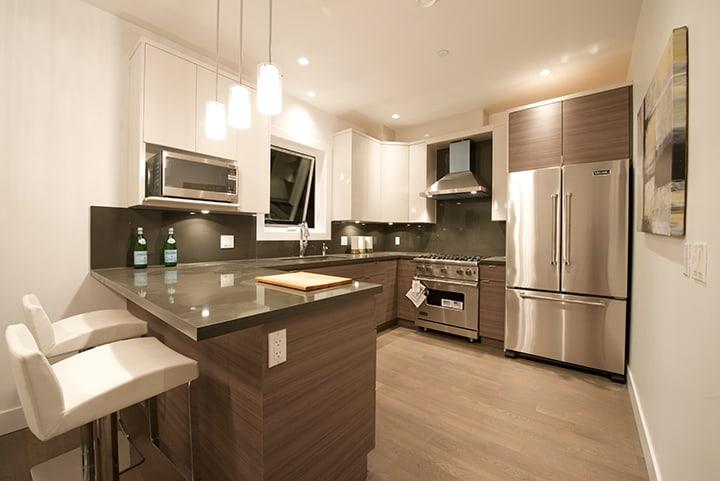kitchen of half duplex in kitsilano vancouver